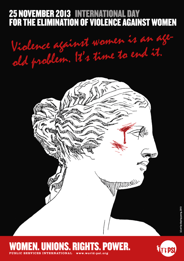 PSI violence against women poster