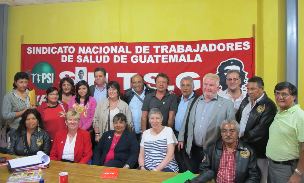 Delegación de la ISP en Guatemala