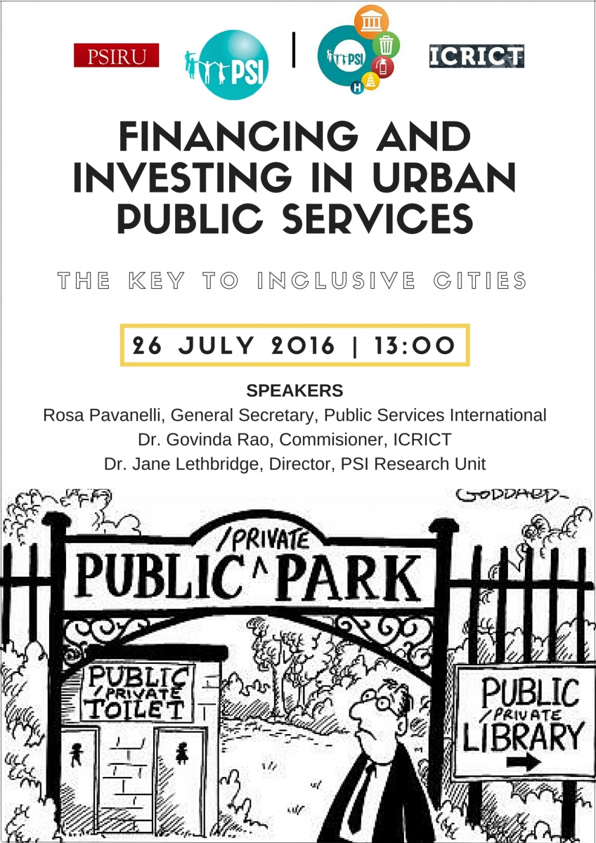 Financing and investing in urban public services: The key to inclusive cities