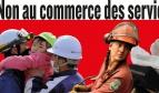 """Image banderole """"Non au commerce des services publics"""""""