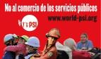 Botone No al comercio de los servicios públicos