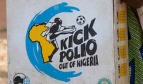 Vaccine box with Kick Polio out of Nigeria logo