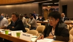 Herbert Beck (Ver.di, Germany) and Annie Geron (PSLINK, Philippines) in the Committee on Labour Migration of the 106th International Labour Conference in Geneva.