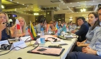 Youth participants at a meeting in Baku, Azerbaijan