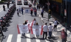 Health workers demonstrate in São Paulo