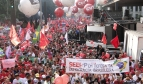 Health workers and trade unionists rally in São Paulo