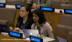 Meera Karunananthan speaks at the UN