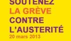Soutenir la grève contre l'austérité