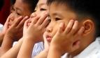 Children at school in the Philippines