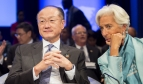 IMF / World Bank Annual Meetings. World Bank Group President Jim Yong Kim; IMF Managing Director Christine Lagarde.  Photo: Simone D. McCourtie / World Bank – Creative Commons