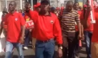COSATU members demonstrating