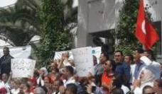 Union protestors in Tunis