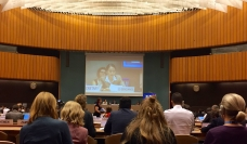 Genevieve Gencianos addresses the Global Compact on Migration