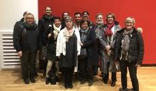 Représentant-e-s des équipes syndicales CFDT Interco d'agents territoriaux impliqués dans les projets d'amélioration et innovation des marchés publics responsables (Bordeaux, Dijon, Paris). Colloque public sur le rôle du syndicat dans les achats publics responsables, Bourse du Travail, Paris 12 mars 2019.