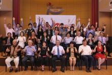 PSI APREC members celebrate the end of a successful meeting