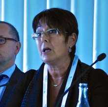Rosa Pavanelli, PSI General Secretary, addressing the Common Space Panel session at the GFMD