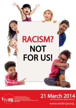 Poster: Racism? Not for us!