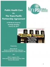 Public health care vs the TPP agreement