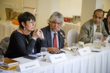 Rosa Pavanelli, ICRICT meeting. Photo: Joel Sheakoski
