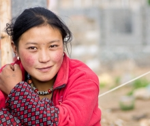 Young woman migrant worker