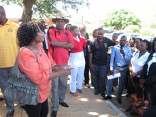 PSI Southern African Secretary speaks to public sector workers in Botswana