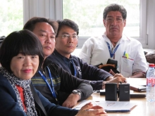 Workers' representatives from South Korea and Guatemala