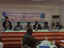 Participants at the francophone health meeting in Lomé, Togo