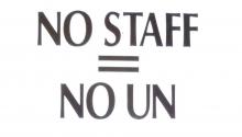 NO staff = NO UN