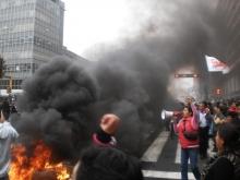 Los y las trabajadores estatales responden en las calles
