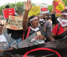 #NoRCEP Protest, Hyderabad, 24 July 2017