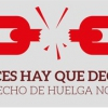 Logo: derecho de huelga