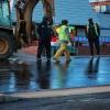 Men working in the street