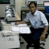 Arif Islam in his office