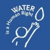 Water is a human right logo
