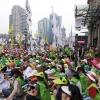 Hundreds of demonstrators for education support worker rights in Korea