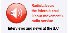 Radio Labour logo at the ILC