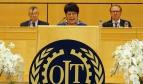 Rosa Pavanelli speaking at ILC 2015