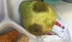 Rotten pear in school lunch