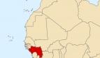 Carte de l'Afrique avec la position de la Guinée