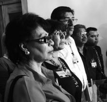 Conferencia de prensa con Rosa Pavanelli en Guatemala