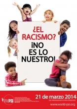 Afiche: ¿El racismo? ¡No es lo nuestro!