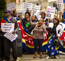 Swaziland protestors photo by Garry Knight