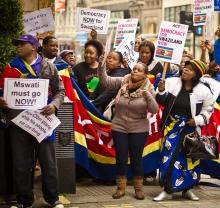 Swaziland protestors photo by Garry Knight