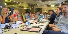 Youth participants at a meeting in Baku, Azerbaijan