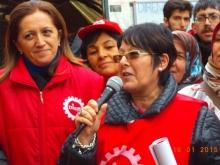 Dr Arzu Çerkezoğlu, DISK Secretary General and Rosa Pavanelli, PSI General Secretary