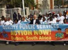 manifestation en faveur des services publics de qualité