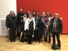 Representatives of the CFDT Interco trade union teams, all local government officers involved in projects to promote sustainable public procurement (Bordeaux, Dijon, Paris), attended a conference on the union's role in this issue, Bourse du Travail, Paris 12 March 2019.