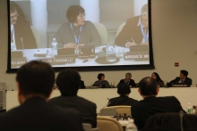 Rosa Pavanelli on the UN panel