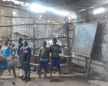 Children at a slum school in Nairobi, Kenya