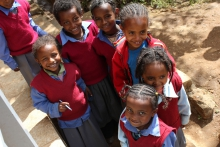 Students at Hidassie primary school - Addis Ababa, Ethiopia